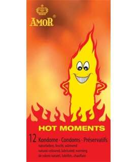 12 x Condoms Love Hot Moments 920622