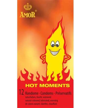12 x Preservativos Amor Hot Moments 920622 Amor Normais