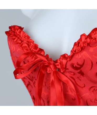 Bodice Floral Red 161013