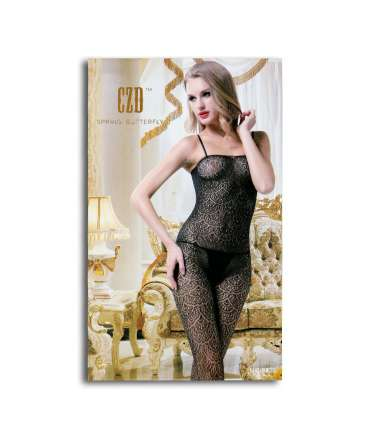 Catsuit CZD Effect Waves Floral 199006