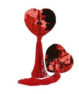 Slap Nipples Heart Sequin Red 194002