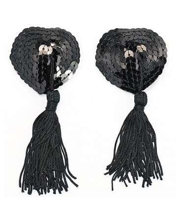 Slap Nipples the Heart of Black Sequins 194005