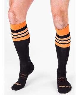 Los calcetines de Fútbol, Altas, código de Barras, Negro,Naranja 134001