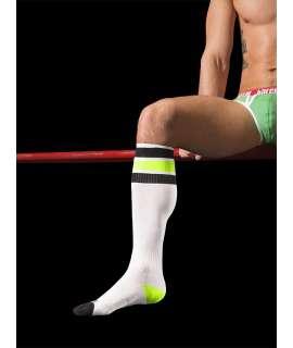 Socks Barcode Neon White Black Green 134004