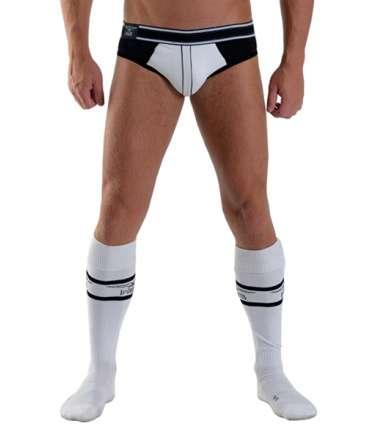 Football socks with Pocket Mister B Urban White 134008