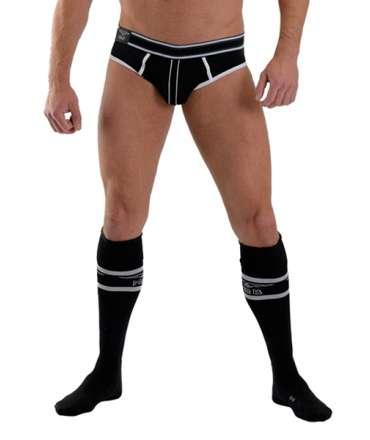 Los calcetines de Fútbol con el Bolsillo de Mister B, Campo, Negro,134010