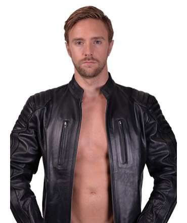 Jacket in Leather, Mister B Biker M 132001