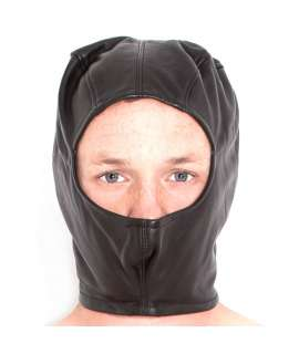 Capuz em Couro Sintético Buraco na Cara 334008 Máscaras e Vendas