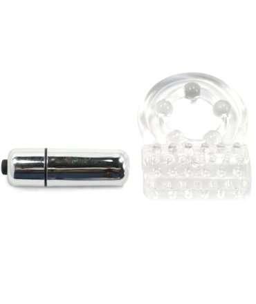 Cockring Vibratório com Estimulador de Clitóris,130012