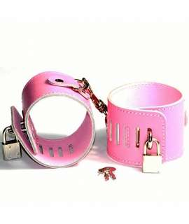 Cuffs Pink with Padlock 332013