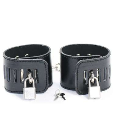 Cuffs Black with Padlock 332014