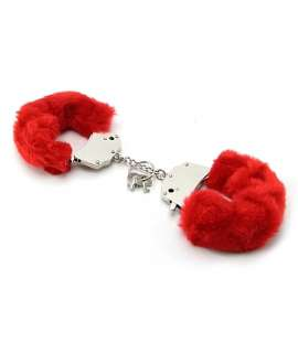 Cuffs with Fur Red 332025
