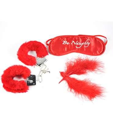 Conjunto de Venda, Pênas e Algemas com Pêlo Vermelho,341010