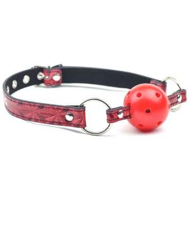 Mordaça Bondage Vermelha com Bola Respirável,334019