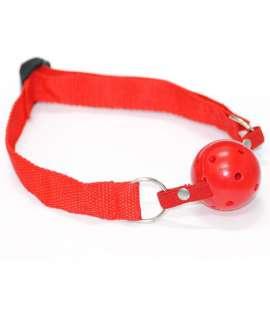 Mordaça Básica Vermelha com Bola Respirável, Mordaças, ,mister-cock, sexshop, sex-shop-gay, sex-shop online, sex-shop