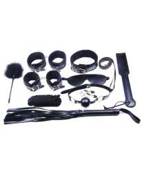 Kit Bondage 10 Pieces Black High Quality 341015