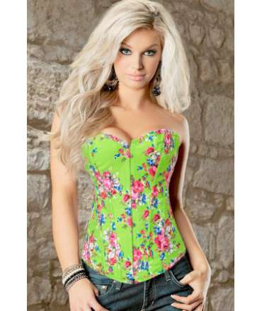 The bodice is Green with Flowers 161035