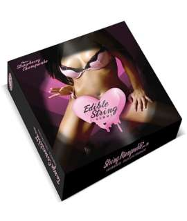 Thong Female Edible Champagne with Strawberry 350015