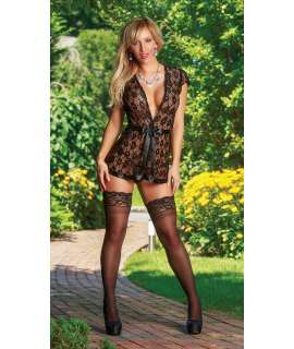 Babydoll Type Robe in Lace 160015