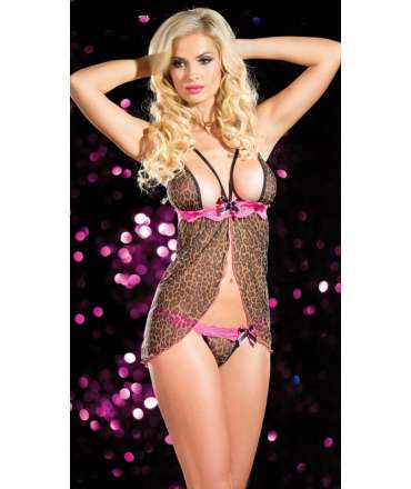 Babydoll Tigress with Lace Pink 160020