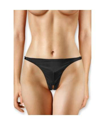 Thong with Bullet Vibrating Ouch! Black 176047