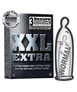 3 x Preservativos XXL Extra, Tamanho Grande , Secura Kondome , welcomelover