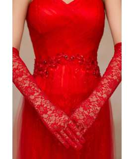 Gloves Lace Red 137002