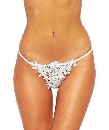 Briefs Lace Crochet White 176075