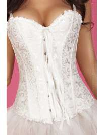 Corset Chilirose White Floral with Handle, Removable and Adjustable 161049