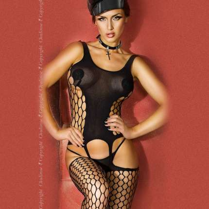 Catsuit Black Wide Net Chilirose 199020