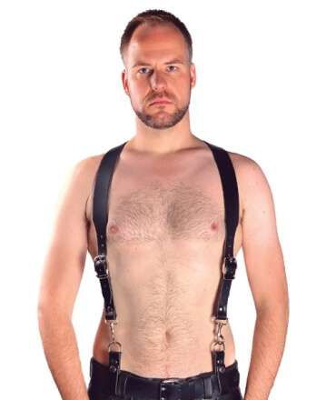 Combi Harness Braces Basic Preto 601111 Mister B Harnesses