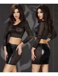 Set Skirt and Top Effect the Wet, and Income Black Chilirose 197035