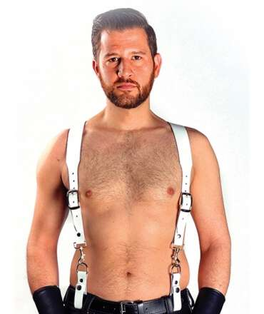 Combi Harness Braces Basic White 601115
