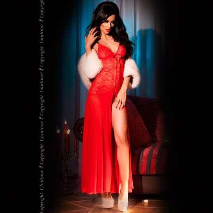 Shirt Night Long Red Chilirose 160053