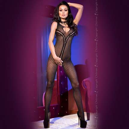 Catsuit Drilled Chilirose 199029