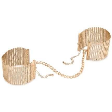 Cuffs, Metal Mesh Golden Désir-Bijoux Indiscrets 332022