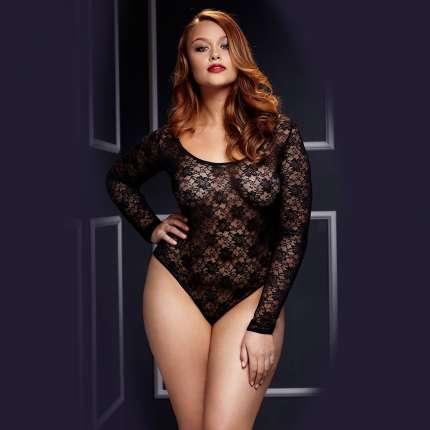 Body Lace Long Sleeve Baci Size Large 167003