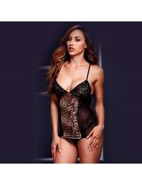 Babydoll Camisolinha Tigress Black or Red Baci 160058
