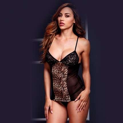 Babydoll Camisolinha Tigress Black or Red Baci 160058