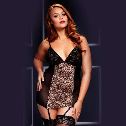 Babydoll Camisolinha Tigress Black or Red Baci TG 167005