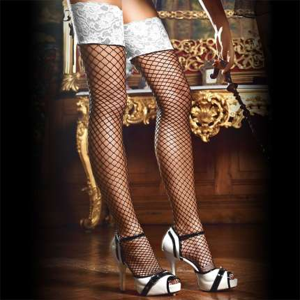 Socks Connects to the Network with White Lace Baci 190032