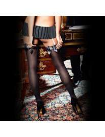 Socks. with Black Lace Satin Baci 190039