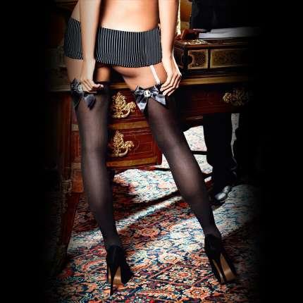 Socks. with Black Lace Satin Baci 190039