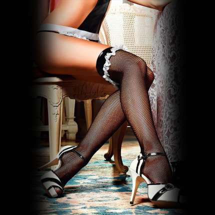 Socks Alloy Strip to Imitate Leather Flounce Baci 190041