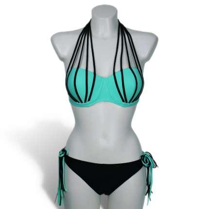 Bikini and Blue Strips 360005