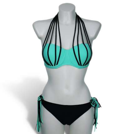 Bikini Azul e Tiras,360005