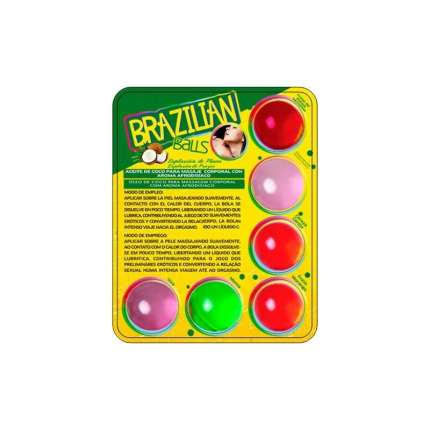 6 x Balls Lubricants Beijáveis Brazilian Balls 312004