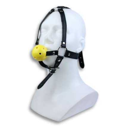 Gag Bondage Deluxe with Ball Breathable Yellow 334024