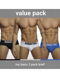 Pack 3 Cuecas Addicted My Basic Brief, Cuecas Homem, Addicted , welcomelover, sex shop, sexshop,Addicted