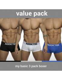 Pack 3 Boxer Shorts Addicted My Basic Boxer 500088